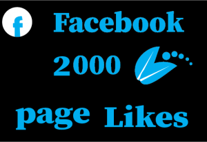 2000+ Facebook page likes, non drop and 100%real