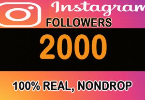 2000+ H.Q Instagram Followers for you from worldwide or targeted country