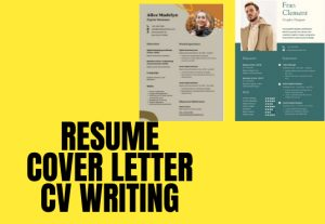 HR friendly and Job winning Resume writing with a Cover Letter