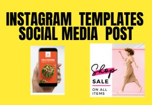 Amazing templates, posts for Instagram, Facebook, and other social media platforms