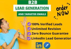 I will find 50 targeted b2b leads, valid contact info, email list for your potential sales