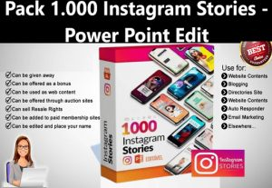 I Will give Pack 1.000 Instagram Stories – Power Point Edit