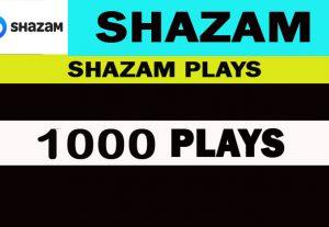 1000 Shazam Plays Nondrop,Real, Safe