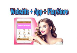 Iconic beauty parlor website + app + PlayStore publish