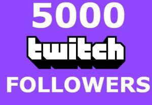 Send you 5000+ twitch followers