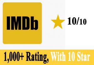 I Will Provide 1,000+ IMBD Rating With 10 Star