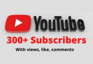 300 high quality subscribers YouTube