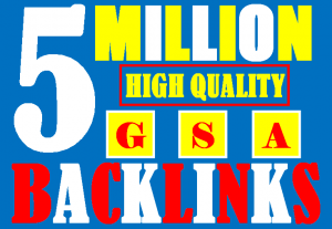I will build 5 million gsa ser backlinks to increase ranking and index on google