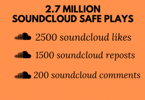 2.7 MILLION SOUNDCLOUD SAFE PLAYS WITH 2500 LIKES 1500 REPOSTS AND 200 COMMENTS