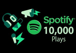 10 000 Spotify ORGANIC Plays From HQ Account of USA or A+ Country CA/EU/AU/NZ/UK. Permanent Guaranteed