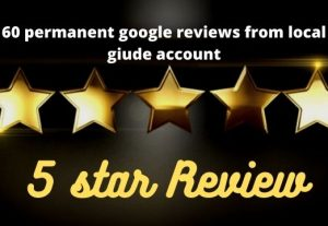 I will give you 60+ google map permanent reviews from the local guide account according to your instruction.