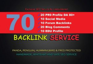 70 high authority forum profile backlinks