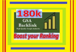 180k GSA Backlinks Ranking your websites