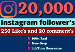 Promote Your Instagram For 20000 Followers 300 Likes & 20 Comments| GUARANTEE SERVICE