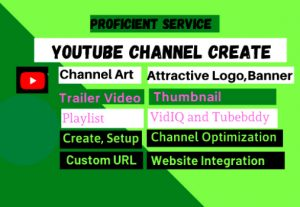 I will Create, Setup, Optimize YouTube Channel and Work as a Manager