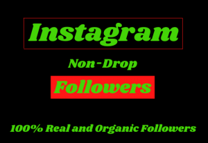 You will get 6000+ permanent & non-drop followers.