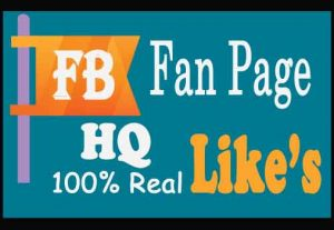 Get 1500+ Facebook Fan Page Likes 100% Real, HQ Lifetime Guarantee