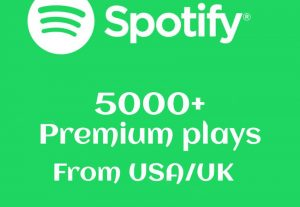 Get 5000+ Spotify plays From USA/UK Real And High-Retention