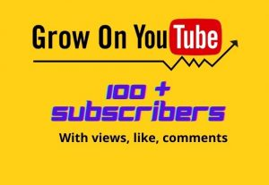 Real YouTube subscribers 100+ Non Drop.