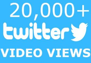 I will add you 20,000 Twitter Video Views