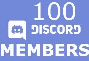 Send you 100 discord server members