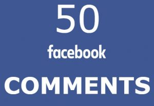 50 Facebook comments HIGH QUALITY