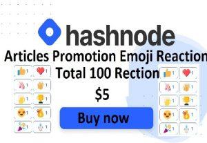 Give 100+ Hashnode Emoji Reaction on your Hashnode Article
