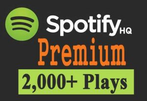 Get 2,000+ Spotify Premium Track Plays, All Active User, Non-Drop & Lifetime Guaranteed.