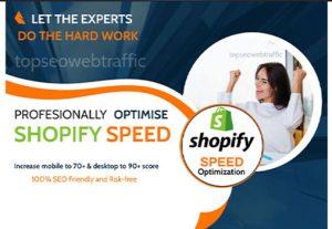 Do Full SHOPIFY Store SPEED OPTIMIZATION