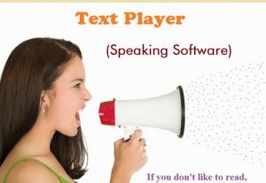 Text Player Speaking Portable Software