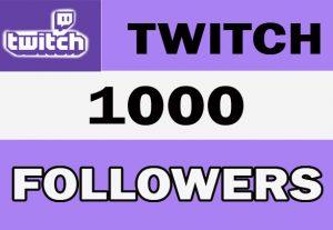1000+ Twitch High Quality Followers