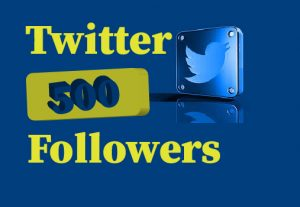 500+ Twitter Followers, Non Drop,  100% real and  lifetime permanent