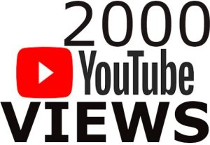 I will Add High Quality 2,000+YT views Real none drop