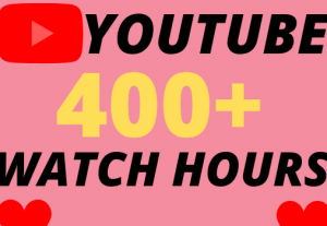 I will give you 400+ organic youtube watch hours superfast