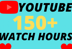 I will give you 150+ organic youtube watch hours superfast