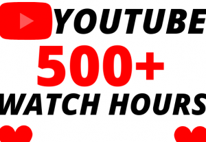 I will give you 500+ organic youtube watch hours superfast