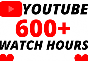 I will give you 600+ organic youtube watch hours superfast