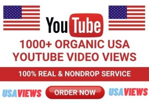 Get Organic USA Targeted 1000+ Non-Drop YouTube Video Views
