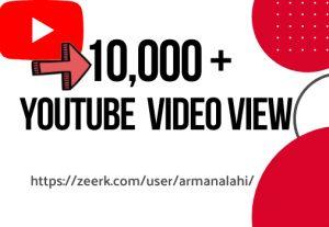 10,000+ YouTube Views, High Retention, Non Drop, Super Fast Guarantee