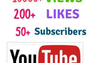 Get 10000+ Views+ 200+ Likes & 50+ Subscribers for youtube channel and video post ! Nondrop.
