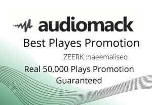 I will deliver quickly Real 50,000 audiomack Plays Promotion Guaranteed