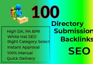 Powerful 100 High Quality Directory Submission Backlinks