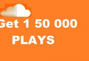 Get 150000 plays on soundcloud……….