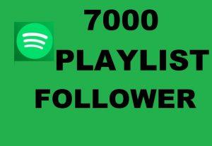 Get 7000 playlists followers….