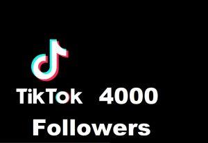 You will get 4000 followers on tiktok