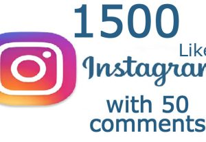1500 Instagram post likes with 50 random comments real and non drop