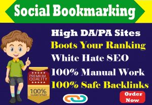 I Will Provide High Quality 50 Social Bookmarking Backlinks