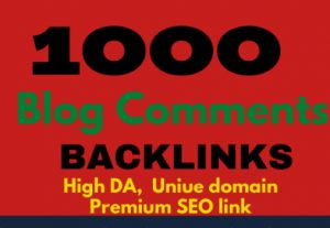 1000 Blog Comments Backlinks For Increase Link Juice And Faster Index on Google GSA SER Blast SEO