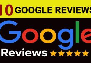 10 Google Maps 5 stars Reviews Non drop