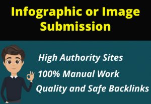 I will do 20 images or infographic submissions on high-quality sites
